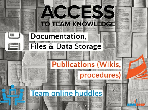 Access to team knowledge TECHNIQUES